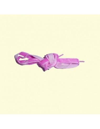 Veters fluweel roze 10mm - 100cm