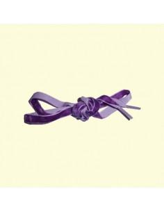 Veters fluweel paars 10mm - 100cm