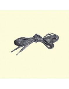 Veters glitter zwart-zilver 10mm - 100cm