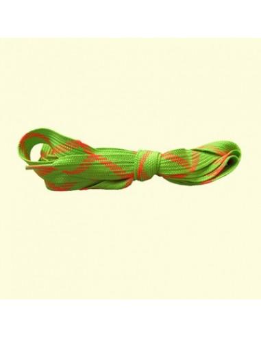 Veters groen-oranje 18mm - 220cm