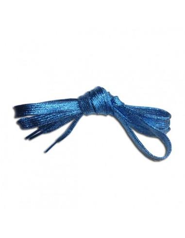 Veters glitter blauw 10mm - 110cm