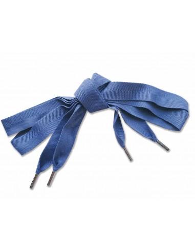 Veters katoen blauw 22mm - 120cm