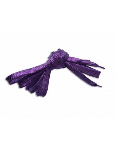 Veters glitter paars 10mm - 110cm