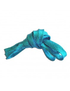 Veters glitter aqua 10mm - 110cm