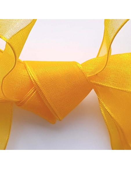 Veters organza lint oker-oranje 20mm - 120cm