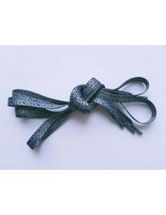 Veters slang zwart-grijs