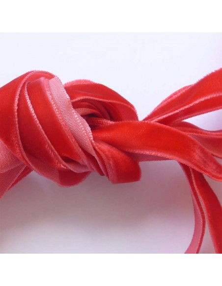 Veters fluweel rood 10mm