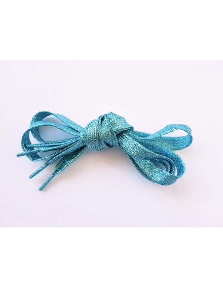 Veters glitter lichtblauw 10mm