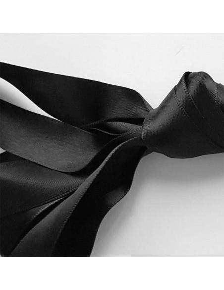 Veters satijn lint zwart 20mm