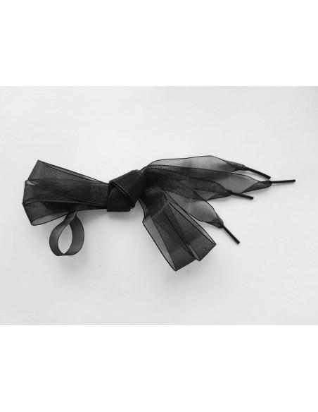 Veters organza lint zwart 20mm