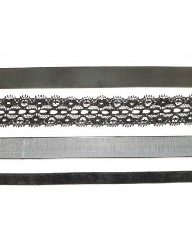 Veters zwart set van 4 paar 120cm