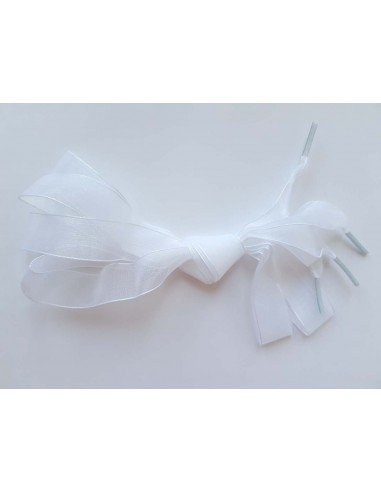 Veters organza lint wit 20mm