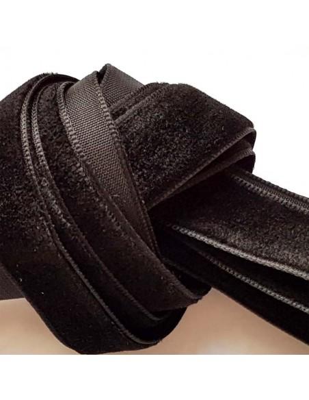 Veters fluweel zwart 16mm