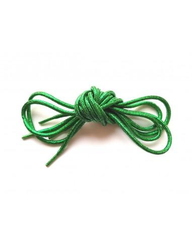 Veters glitter groen rond 110cm