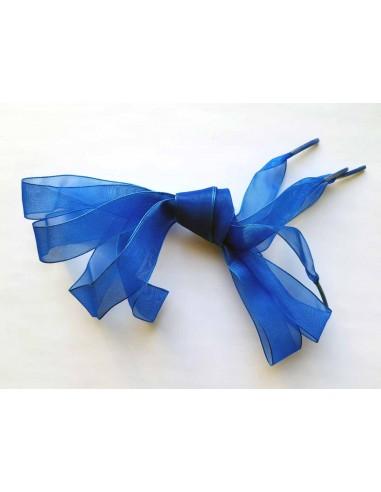Veters organza lint blauw 20mm - 120cm