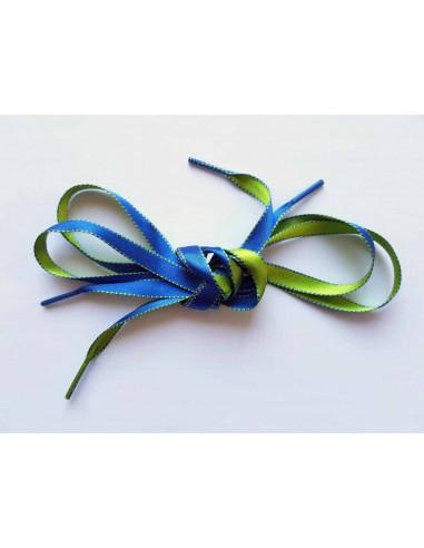 Veters satijn lint blauw-groen 10mm