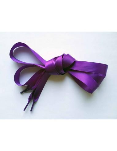 Veters satijn lint paars 15mm - 120cm