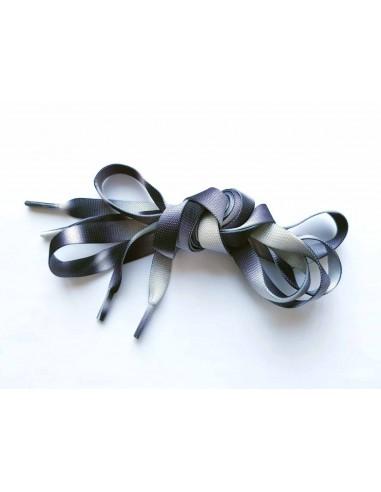 Veters zwart-grijs-wit 10mm