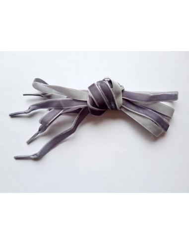 Veters fluweel grijs 10mm - 120cm