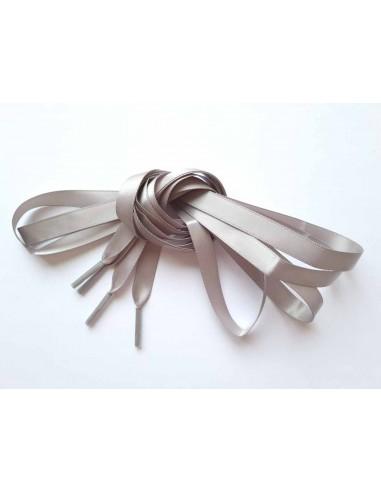 Veters satijn lint grijs 10mm