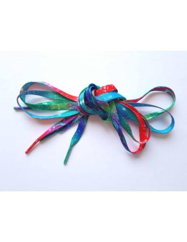 Veters tie dye full-color 8mm - 120cm