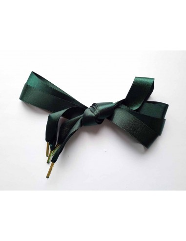 Veters glitter satijn lint groen-goud 22mm - 120cm