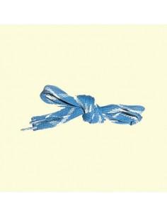 Veters blauw-wit 18mm - 140cm