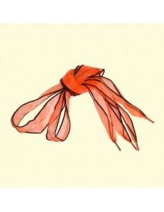 Veters lint organza oranje 30mm - 85cm