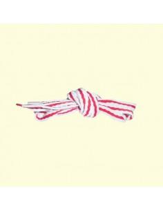 Veters streep wit-rood 10mm - 114cm