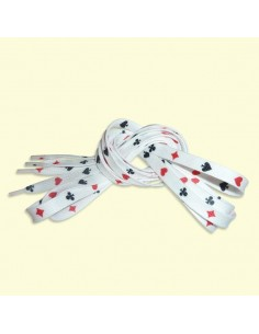 Veters wit poker 10mm - 130cm