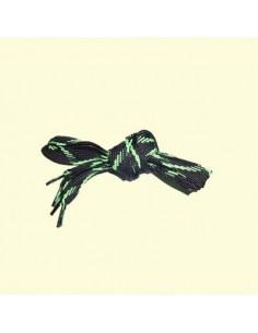 Veters zwart-groen 18mm - 140cm