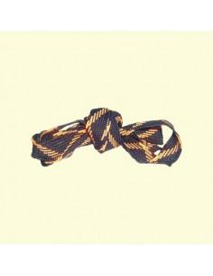 Veters zwart-oranje 18mm - 140cm