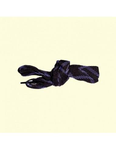 Veters zwart-paars 18mm - 140cm