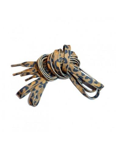 Veters leeuw/luipaard bruin okergeel 8mm - 130cm