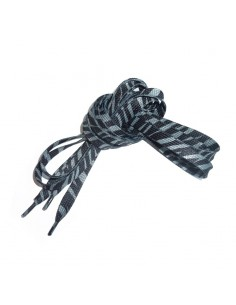 Veters zebra zwart-grijs 10mm - 140cm