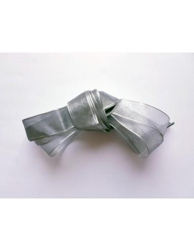 Veters lint organza grijs 20mm - 120cm