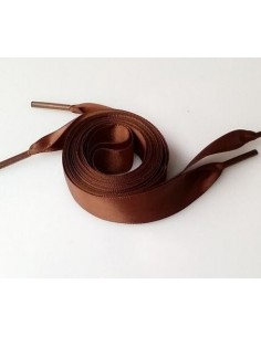 Veters satijn lint bruin 20mm - 120cm