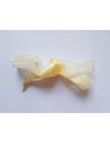 Veters lint organza creme 20mm - 120cm
