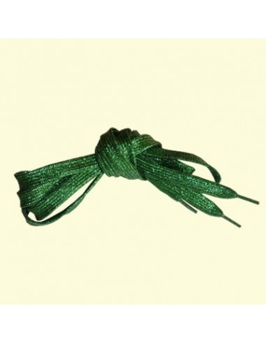 Veters glitter groen 10mm - 110cm