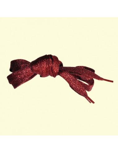 Veters glitter rood 10mm - 110cm