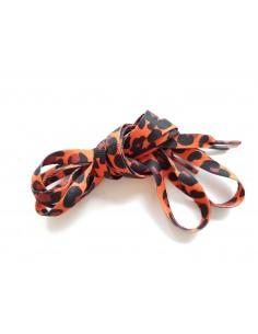 Veters luipaard/panter/tijger oranje-zwart 10mm - 115cm