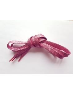 Veters glitter roze 10mm - 110cm