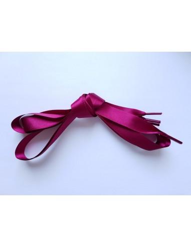 Veters satijn lint bordeaux-rood 15mm - 120cm