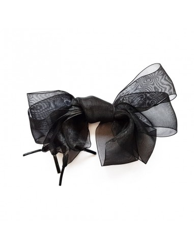 Veters organza lint zwart 40mm - 120cm