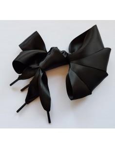 Veters satijn lint zwart 40mm - 120cm