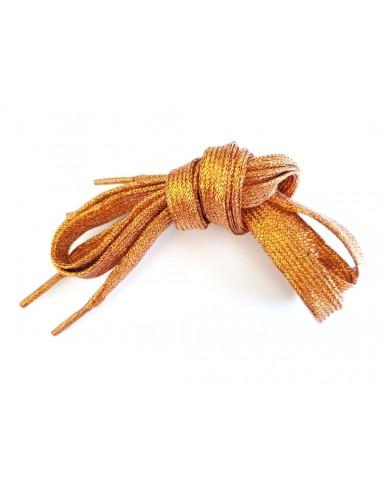 Veters glitter oranje 10mm - 110cm