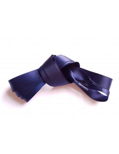 Veters satijn lint blauw 15mm