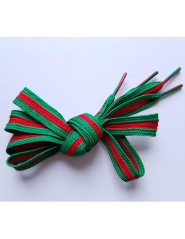 Veters streep groen-rood 12mm
