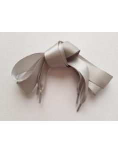 Veters satijn lint grijs 25mm - 110cm