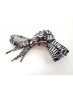 Veters zebra zwart-wit 10mm - 120cm